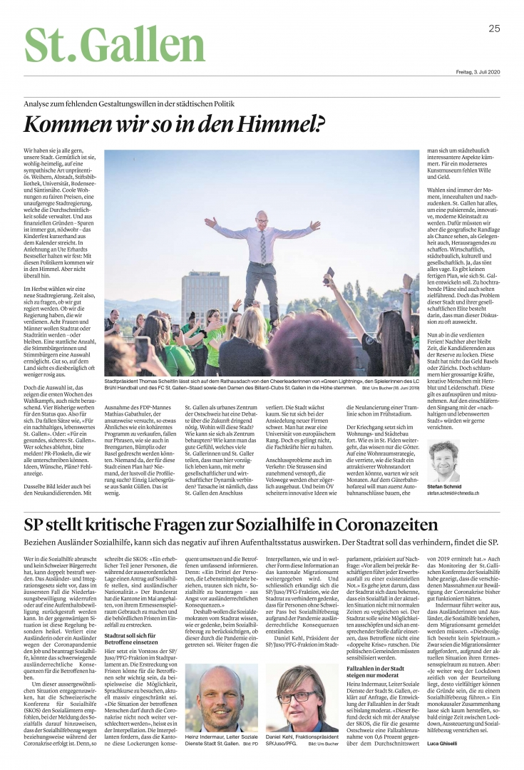 Tagblatt 3. Juli 2020, S. 25