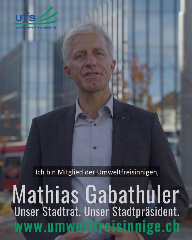 Umweltfreisinnige unterstützen Mathias Gabathuler