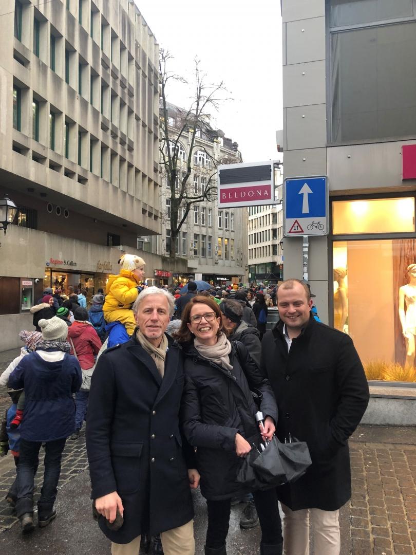 Mathias Gabathuler am Klimastreik mit Susanne